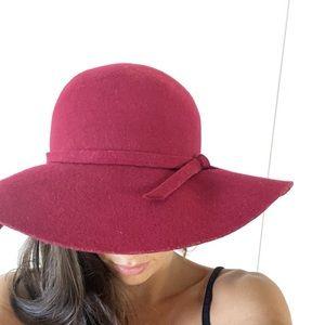 Vintage Accessories - Floppy red hat
